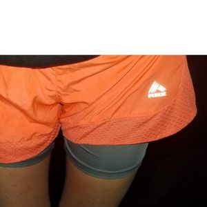 Bright Orange RBX Athletic short with liner